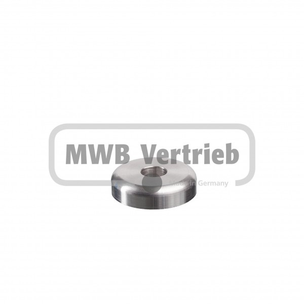 V2A Designscheibe Ø40 x 10 mm, ohne Ausdrehung, und Durchgangsbohrung Ø12 mm