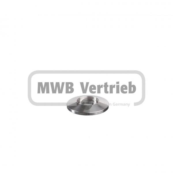 V2A Trapezscheibe Ø40 x 6 mm, mit Ausdrehung Ø20,3 x 3,0 mm, und Durchgangsbohrung 10,5 mm