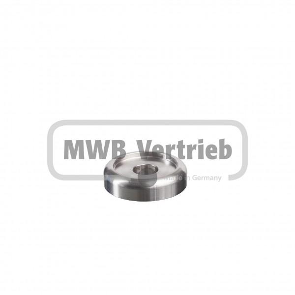 V2A Designscheibe Ø40 x 10 mm, mit Ausdrehung Ø30 x 2 mm, und Durchgangsbohrung Ø12 mm