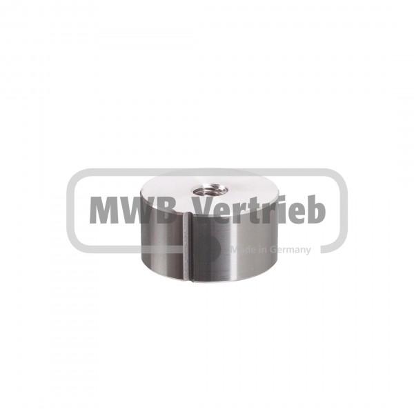 V2A Einschweißmuffe für Rohr Ø42,4x2,0 mm mit 20 mm M10 Innengewinde gekerbt für Rohrschweißnaht