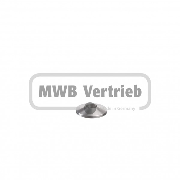 V2A Trapezscheibe Ø30 x 6 mm, mit Durchgangsbohrung Ø10,1mm