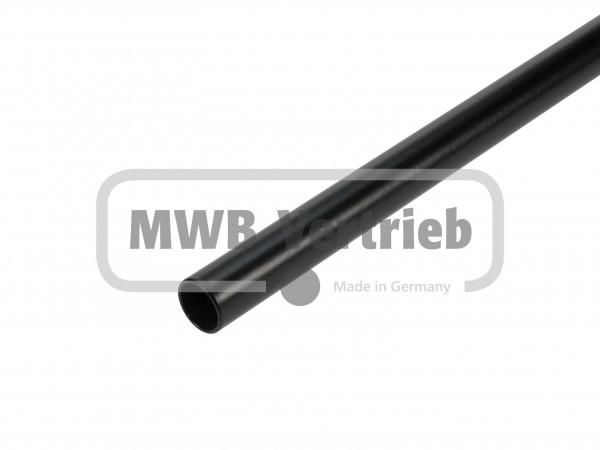 Stab Ø16 in RAL 9005, Schwarz pulverbeschichtet, ohne Gewinde, ohne Scheibe