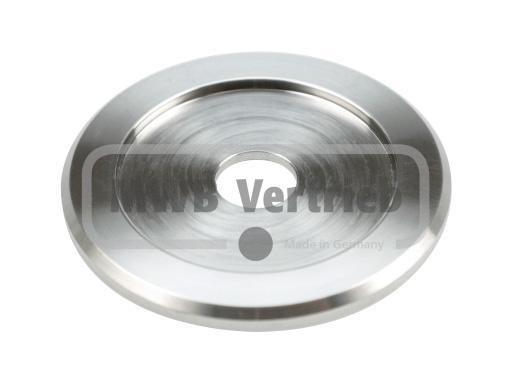 V2A Trapezscheibe Ø60 x 4 mm, mit Ausdrehung Ø42,6 x 2 mm, und Durchgangsbohrung Ø16,3 mm