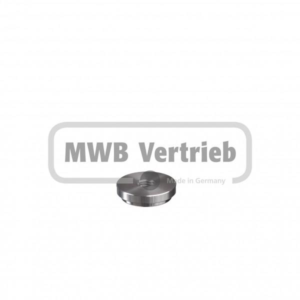 V2A Anschweißkappe Ø33,7x2 mm mit Innengewinde M10