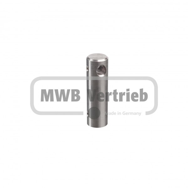 V2A Halter Kinderschutzleiste Ø18 x 60 mm inkl. Edelstahlnippel zur Befestigung