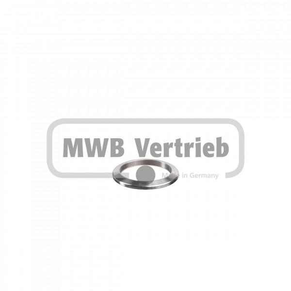 V2A Trapezscheibe Ø39 x 3,5 mm, mit Durchgangsbohrung Ø30,25mm