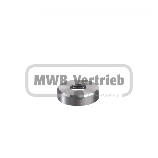 V2A Rosette Ø43 x 11 mm, mit O-Ring, für Rohr Ø16 mm