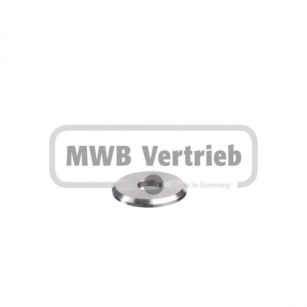 V2A Trapezscheibe Ø40 x 4 mm, mit Durchgangsbohrung 13,0 mm