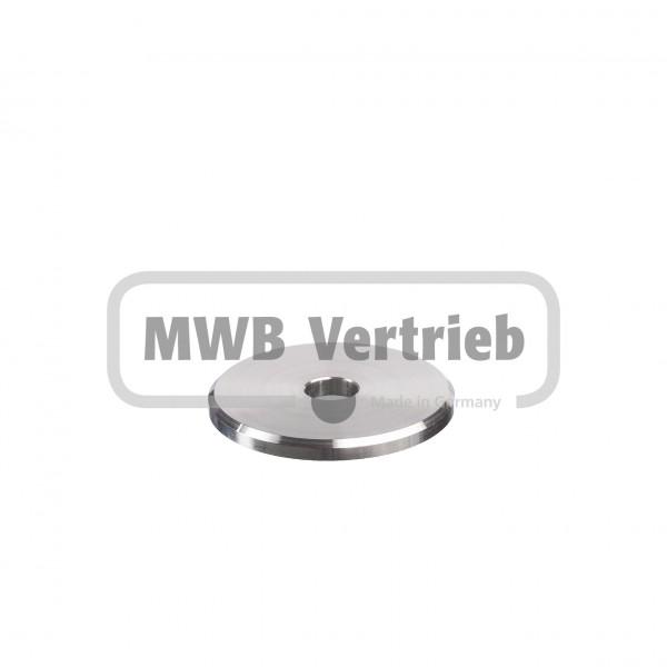 V2A Trapezscheibe Ø60 x 5 mm, mit Durchgangsbohrung 13,0 mm