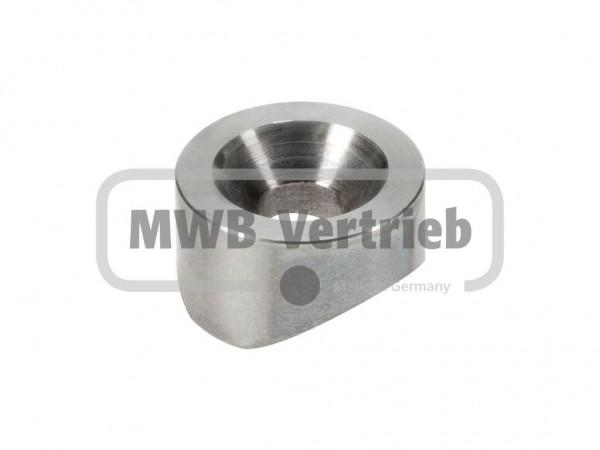 V2A Ausgleichsstück für Rohr 30 mm, Ø 25mm x 8 mm mit Durchgangsbohrung Ø8,5 mm