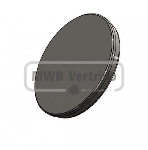 Abschlußkappe Ø139 x 2 mm, für Spindelhülse Artikel-Nr.: 50000140 & 50000142